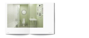 Regenda Group's Lister Garden Property Development Brochure Interior Bathroom Spread