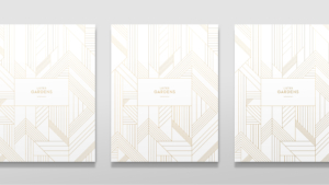 Regenda Group's Lister Garden Property Development Brochure Covers Foiled Flat